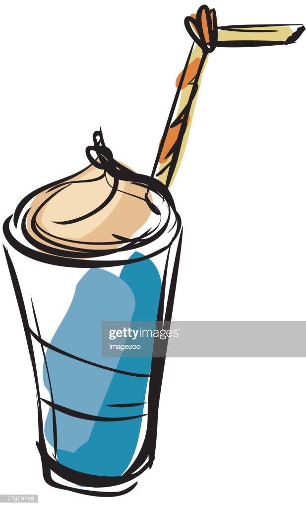 iced coffee : Illustration