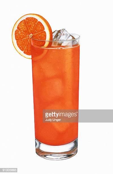 bildbanksillustrationer, clip art samt tecknat material och ikoner med iced orange drink - cocktail