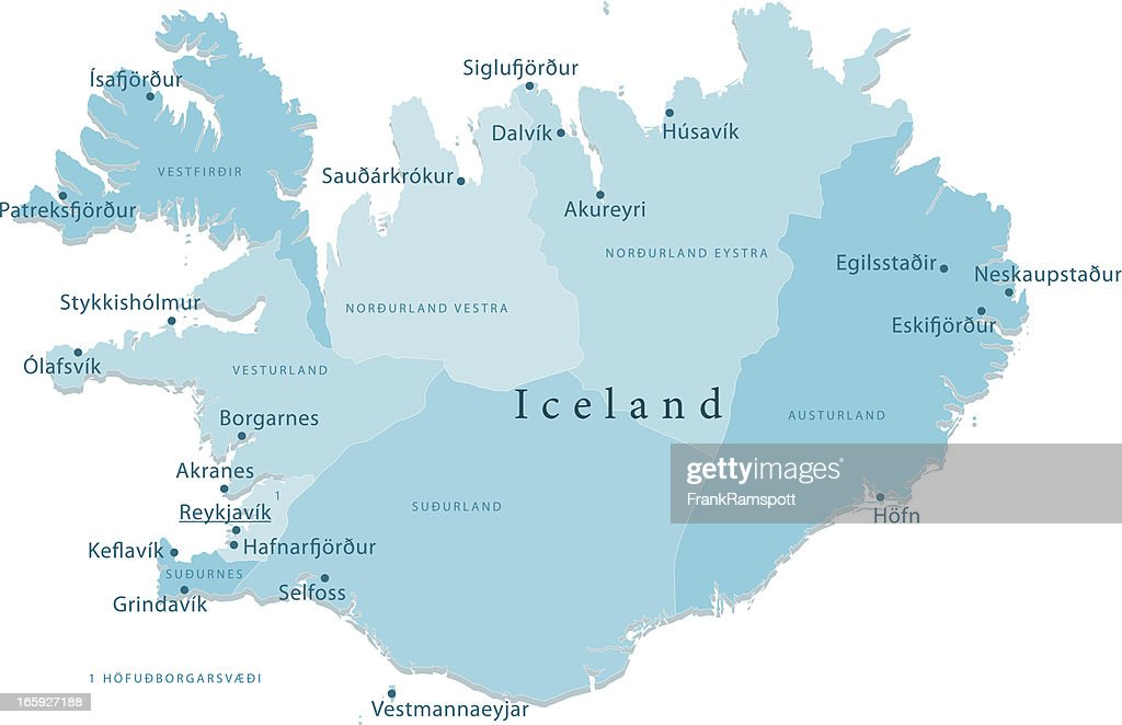 Iceland Vector Map Regions Isolated Vector Art   Getty Images
