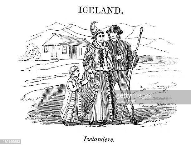 Icelanders Vintage Engraving