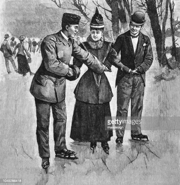Ice-skating fun - 1895