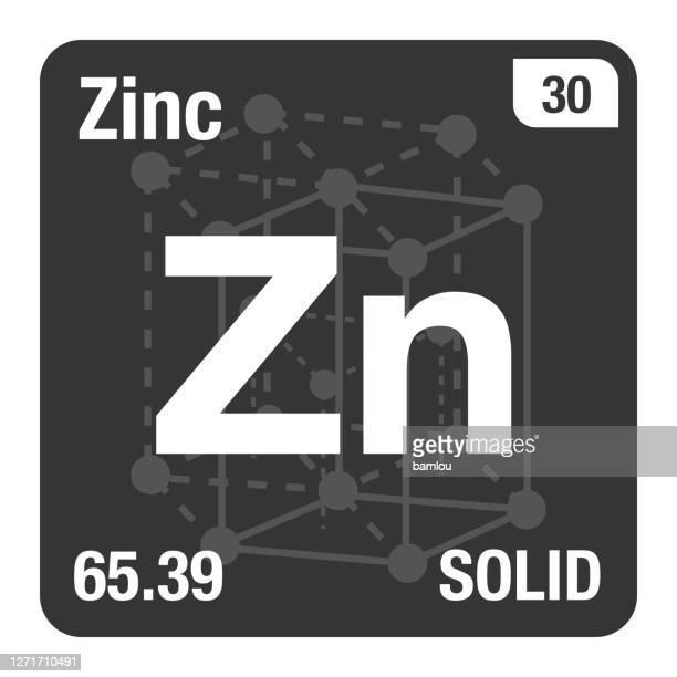 結晶系背景を有する元素の亜鉛周期表のアイコン - 亜鉛点のイラスト素材/クリップアート素材/マンガ素材/アイコン素材
