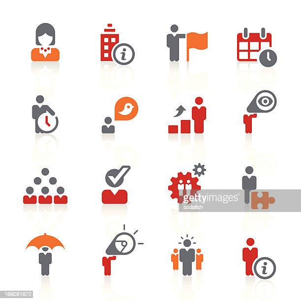 Icon set related to business and human resources
