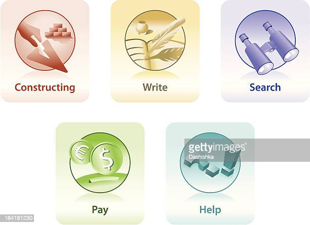 stockillustraties, clipart, cartoons en iconen met icons for web and print - e mail
