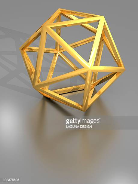 icosahedral structure, artwork - triangle shape stock illustrations