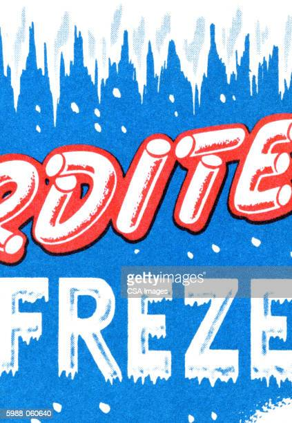 icy background - capital letter stock illustrations