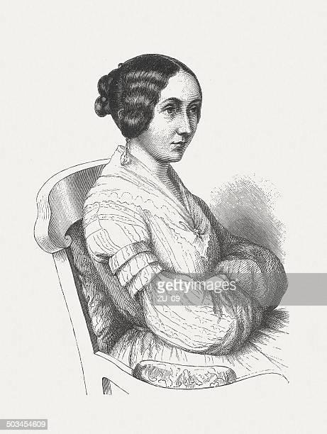 Ida Hahn-Hahn (1805-1880), German writer, wood engraving, published in 1882