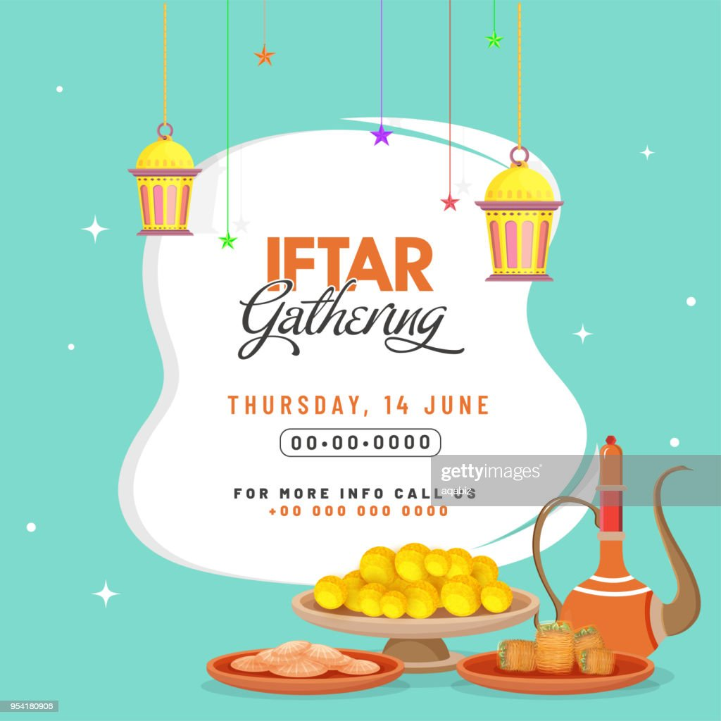 Iftar Party Celebration Invitation Card Poster Or Banner