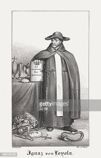 Ignatius of Loyola (1491-1556), founder of the Jesuits, published 1831