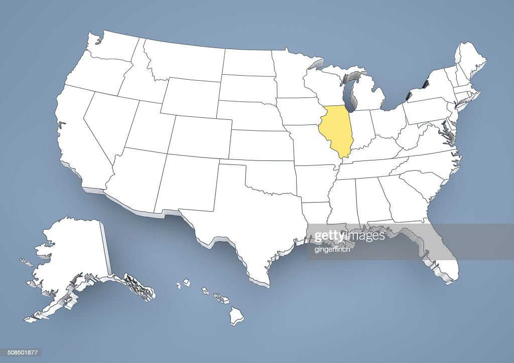 Illinois State Map In Usa on detroit map usa, the word usa, hispanic population map usa, new york on map of usa,