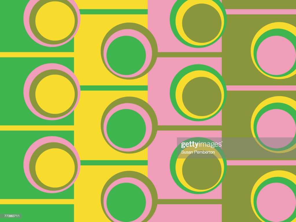 Illustrated abstract pattern with green and pink pattern : Illustration