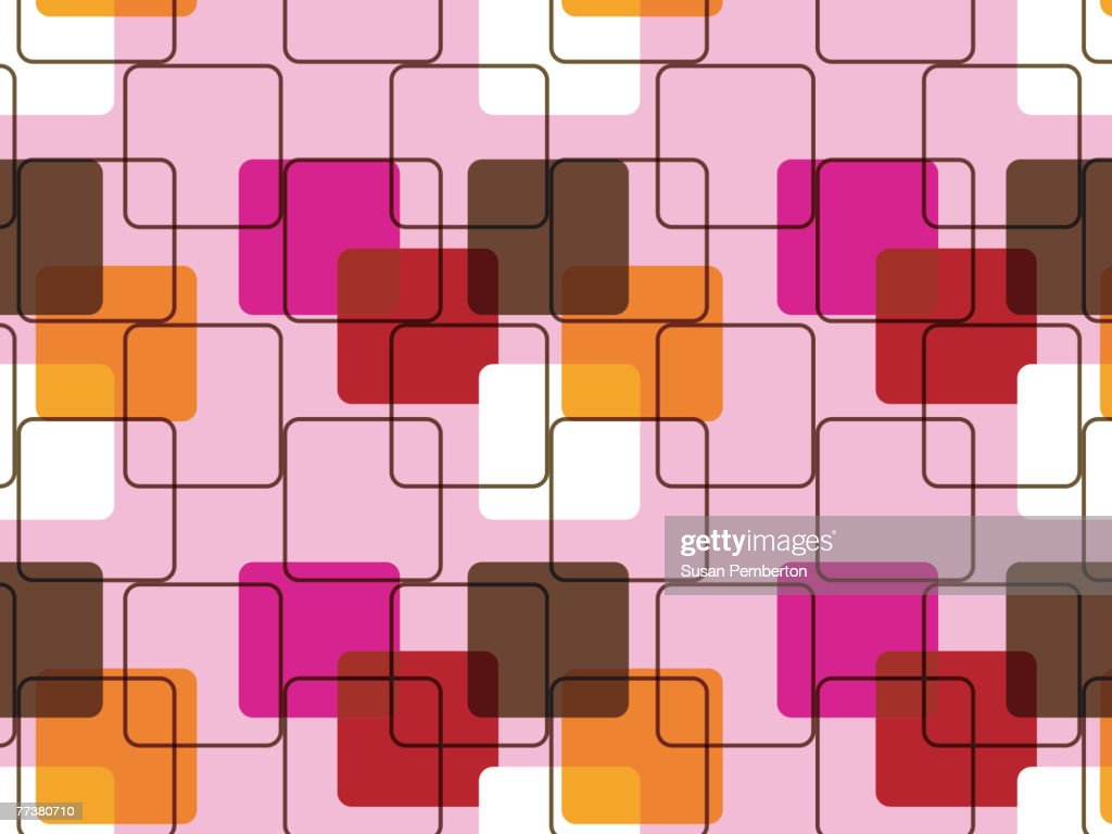 Illustrated abstract pattern with pink and brown design : Illustration