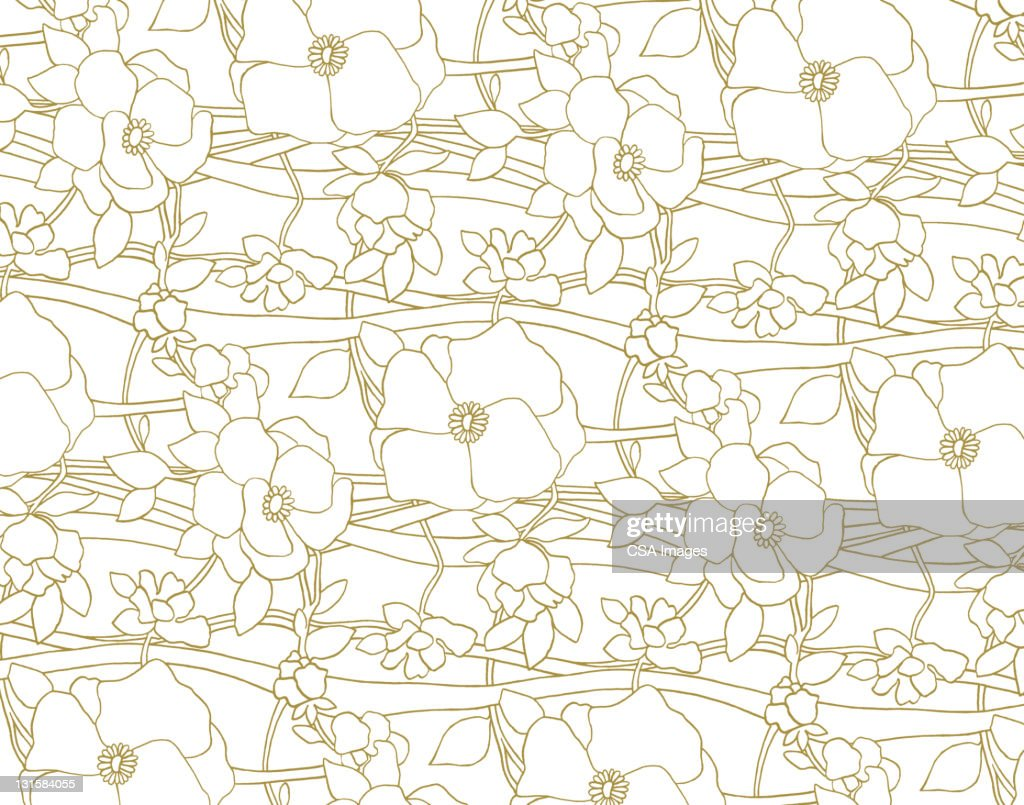 Illustrated Flower Pattern : Stock Illustration
