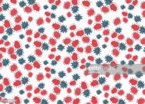 illustration coronavirus bacterium on white background - design element stock illustrations