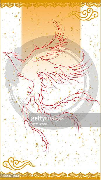 illustration - phoenix mythical bird stock illustrations, clip art, cartoons, & icons