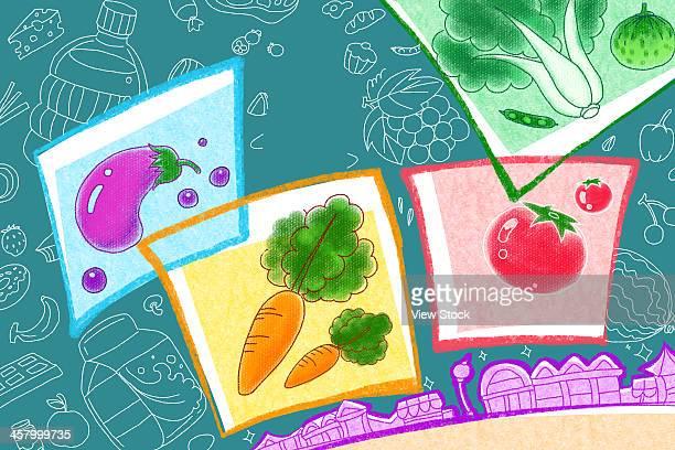 ilustrações, clipart, desenhos animados e ícones de illustration - bok choy