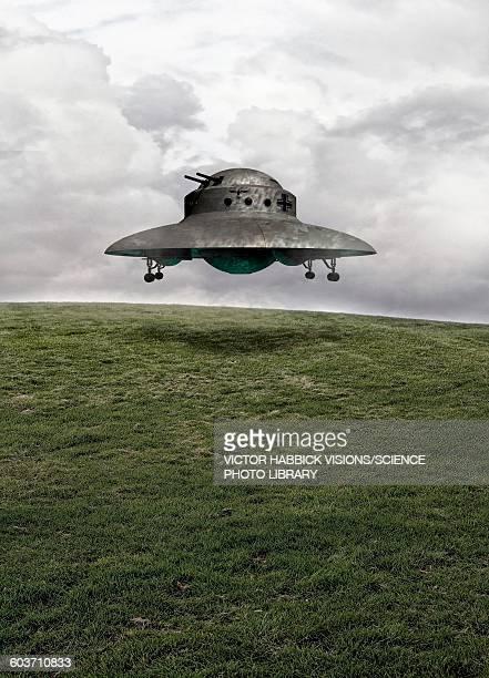illustrations, cliparts, dessins animés et icônes de ufo, illustration - extraterrestre