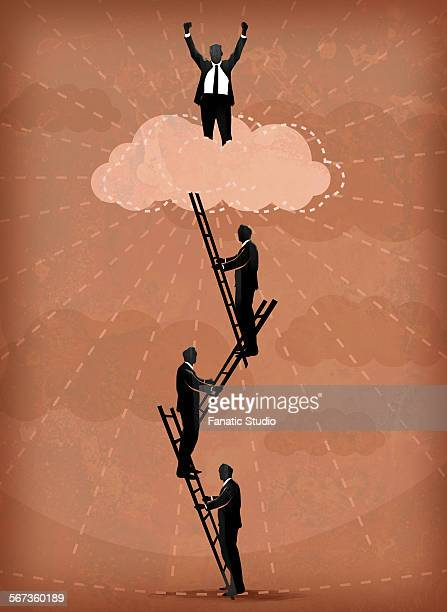 illustration image of business people climbing ladders - apex legends点のイラスト素材/クリップアート素材/マンガ素材/アイコン素材