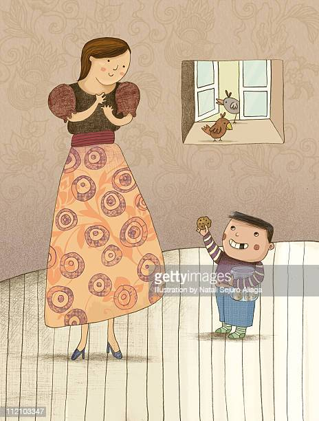 illustration made for mother's day - mothers day stock illustrations
