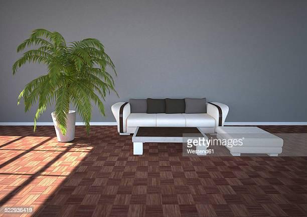 Illustration, Modern room design