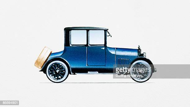 Illustration of 1918 Type 57 Victoria Coupe Cadillac