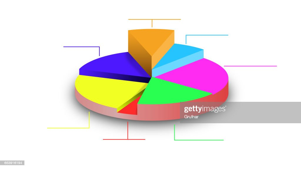 Illustration Of A 3d Pie Chart Stock Illustration Getty Images
