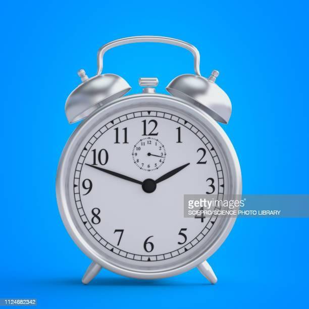 illustration of a alarm clock - deadline stock illustrations