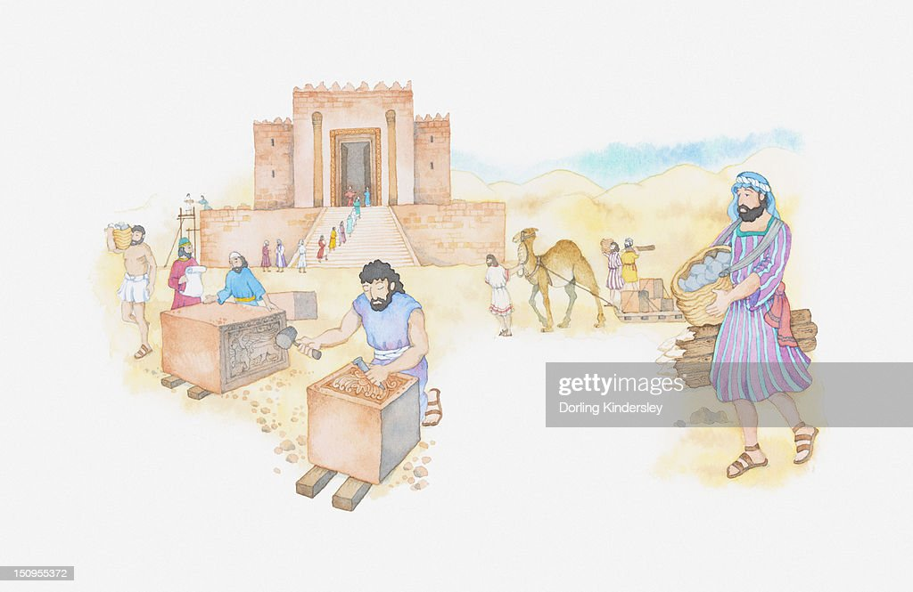 Illustration Of A Bible Scene 2 Kings 12 Temple Of Solomon