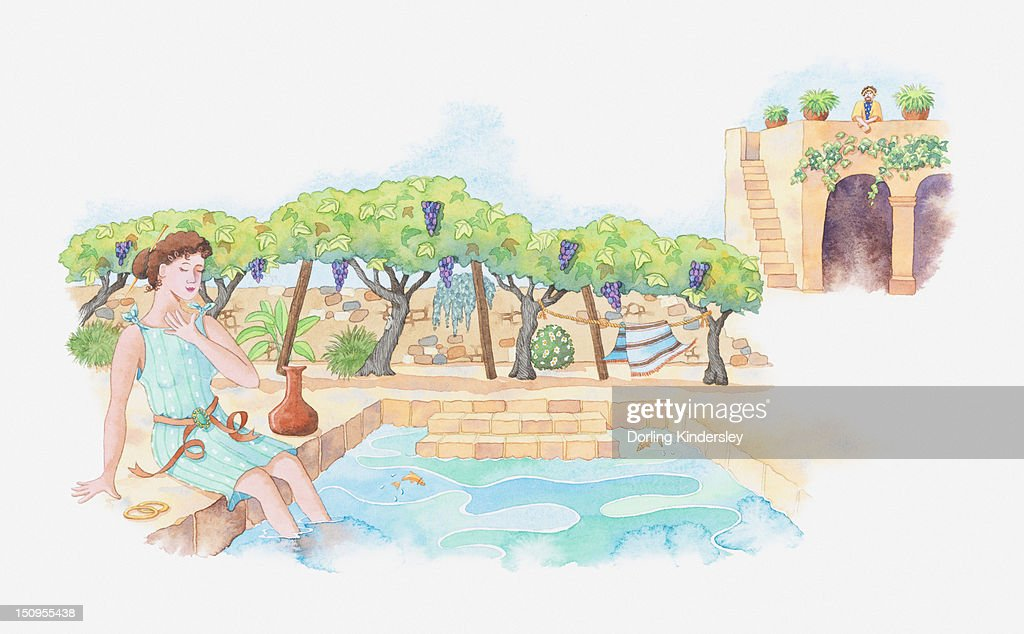 Illustration Of A Bible Scene 2 Samuel 1112 King David Commits