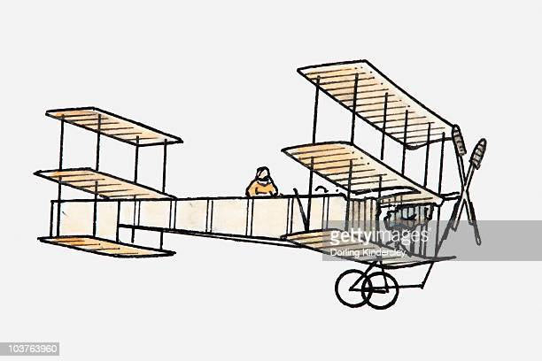 Illustration of a biplane