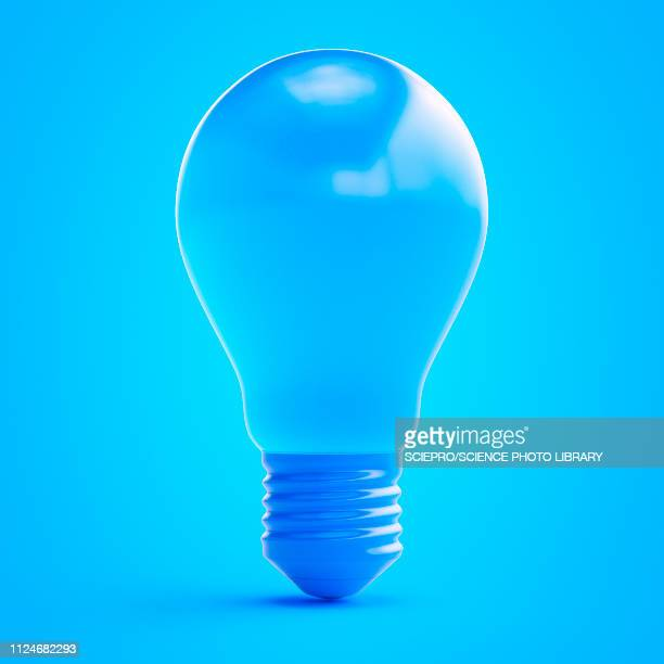 illustration of a blue light bulb - ideas stock illustrations