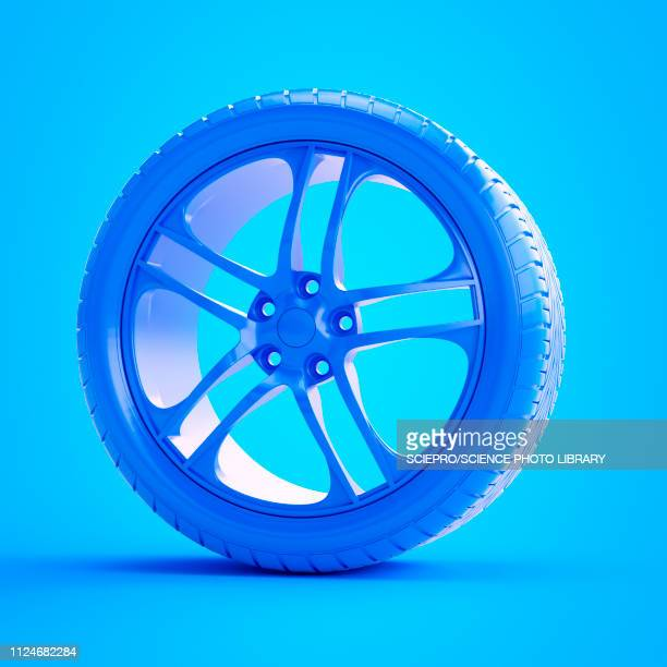 illustration of a blue tyre - wheel stock illustrations, clip art, cartoons, & icons