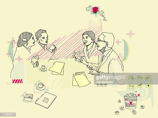 Illustration of a business discussion