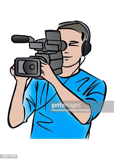 Illustration of a cameraman