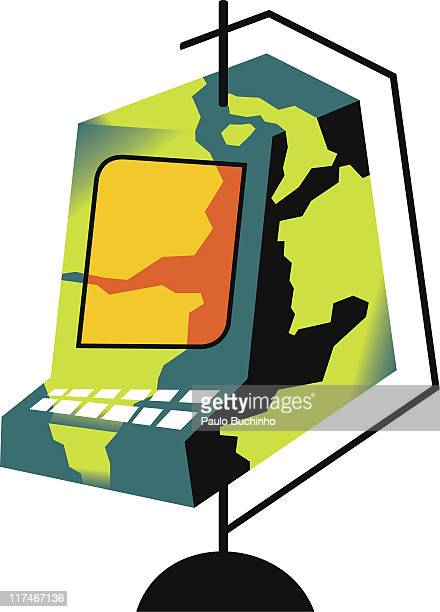 Illustration of a camouflaged computer