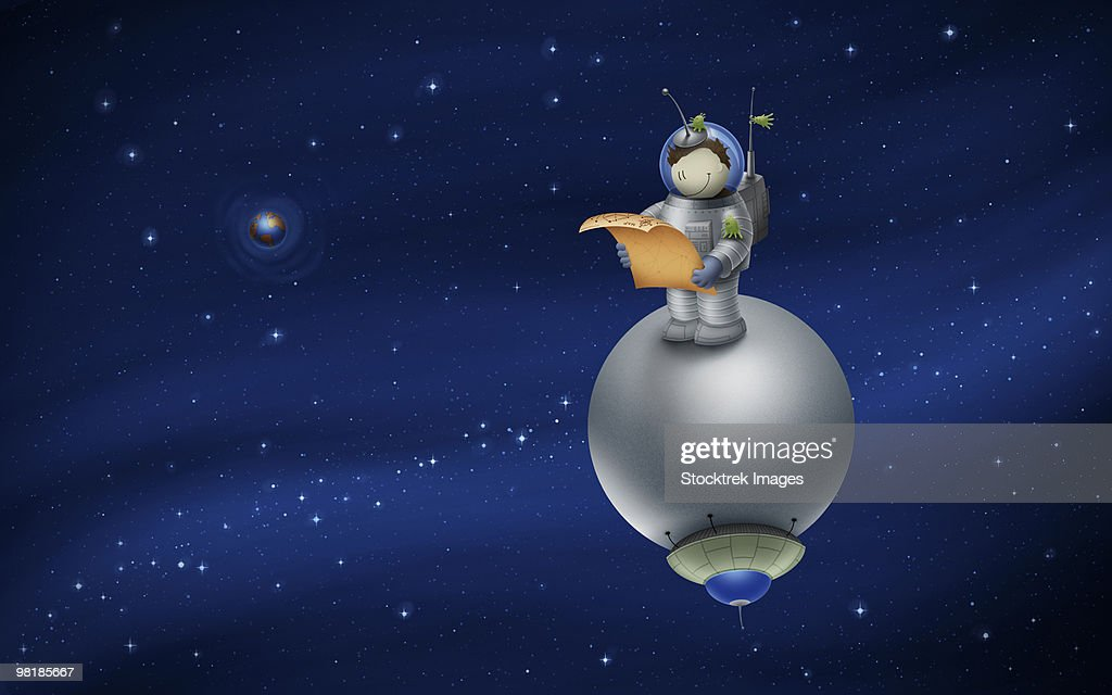 cartoon astronaut in outer space - photo #21