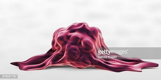 3d illustration of a highly invasive tumor cell - tumor stock illustrations