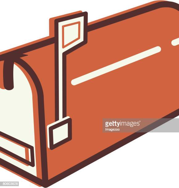 illustration of a mail box - domestic mailbox stock illustrations