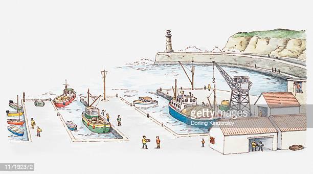 Illustration of a port