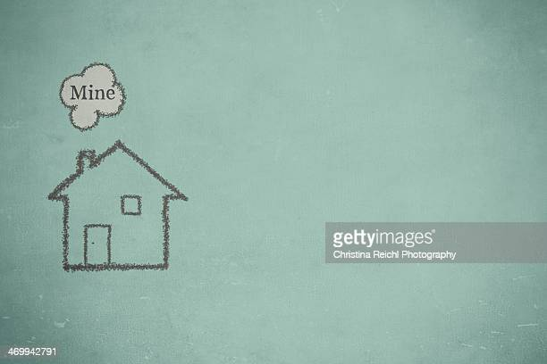 illustration of a small house - air pollution stock illustrations
