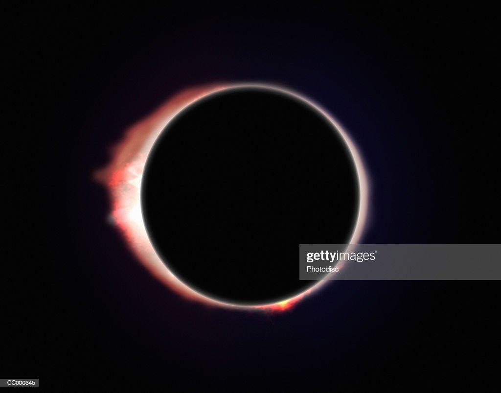Illustration of a Solar Eclipse : stock illustration