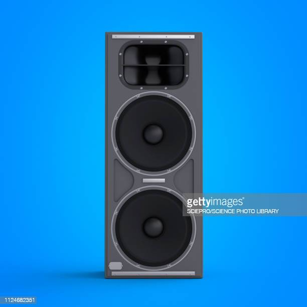 illustration of a speaker - electrical equipment stock illustrations