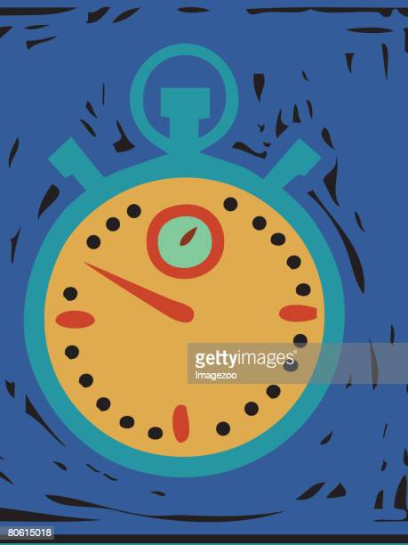 illustration of a stop watch - number of people stock illustrations, clip art, cartoons, & icons