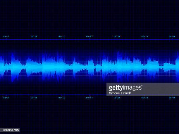 Illustration of a stylised blue sound wave