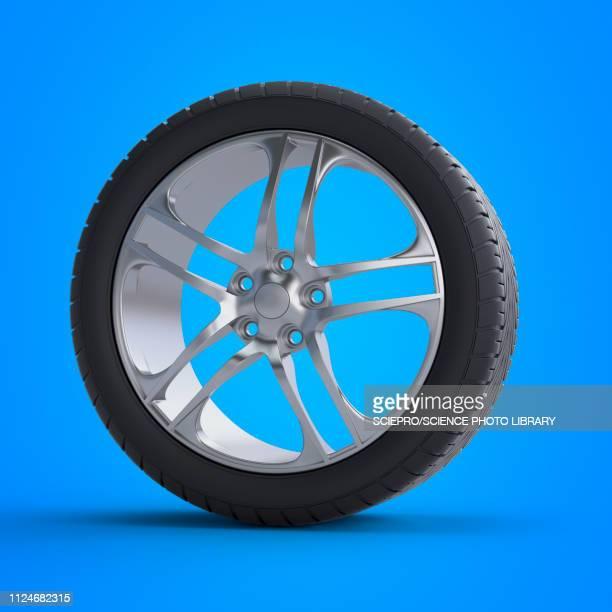illustration of a tyre - shiny stock illustrations