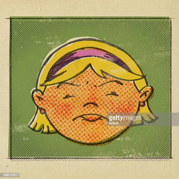 Illustration of a woman pouting