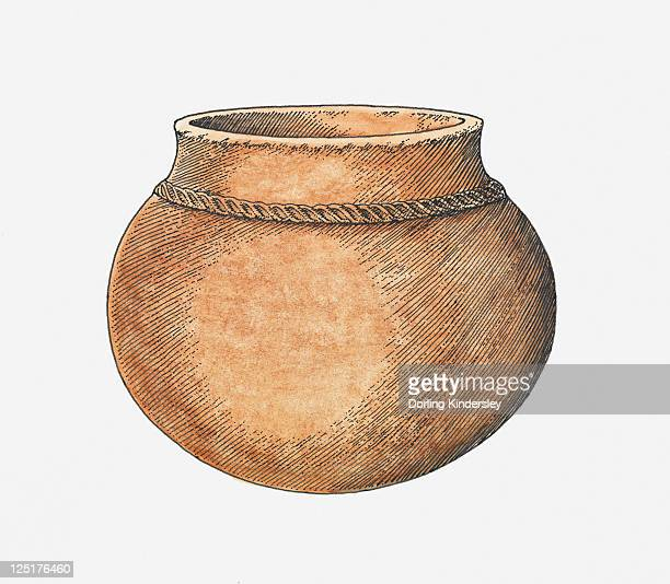 illustration of african pottery - pottery stock illustrations, clip art, cartoons, & icons