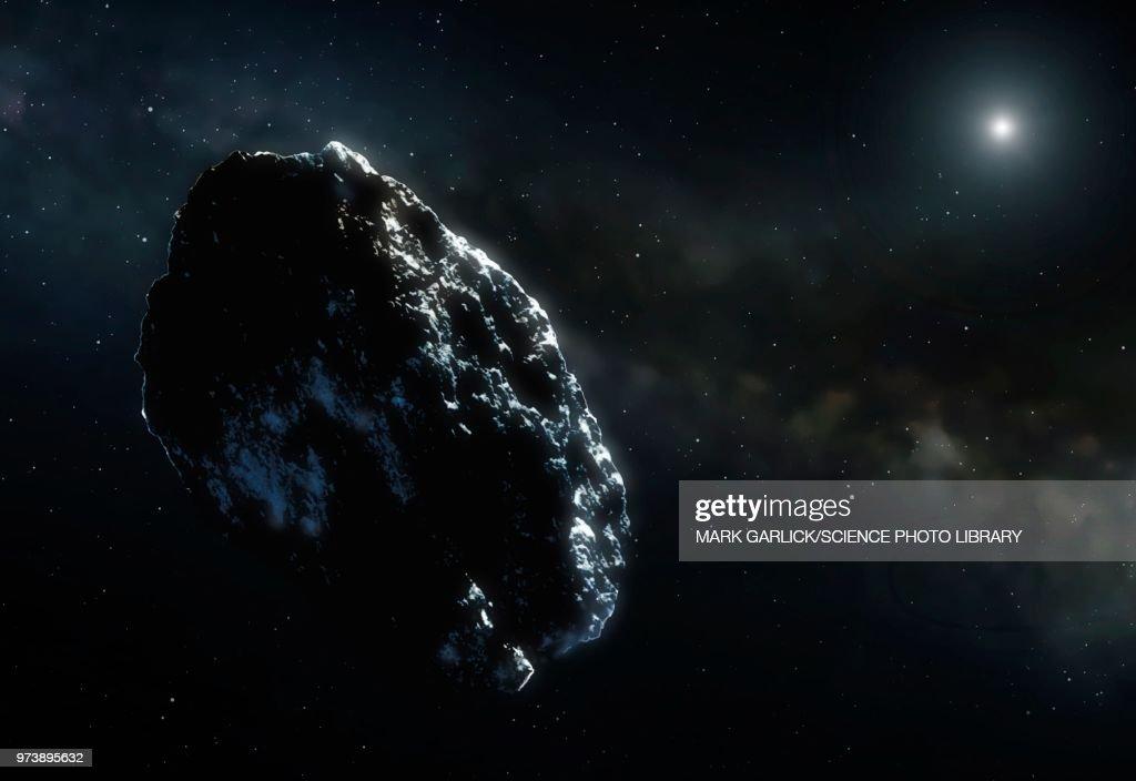 Illustration of an asteroid : stock illustration