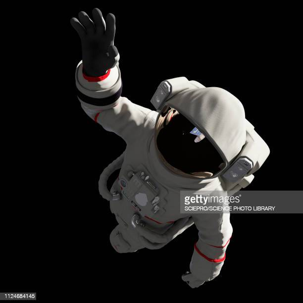 illustration of an astronaut in space - astronaut stock illustrations, clip art, cartoons, & icons