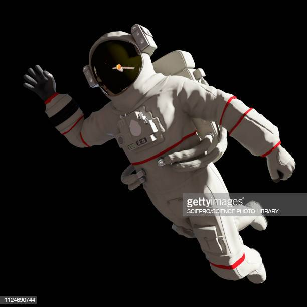illustration of an astronaut in space - astronaut stock illustrations